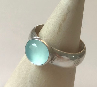Chalcedony Simple Ring