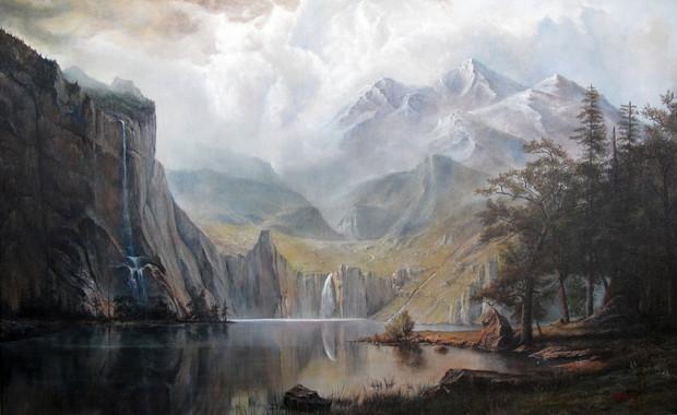 bierstadt yosemity vally with longs peak