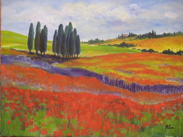 Tuscany poppy season
