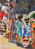 Boys at the Powwow