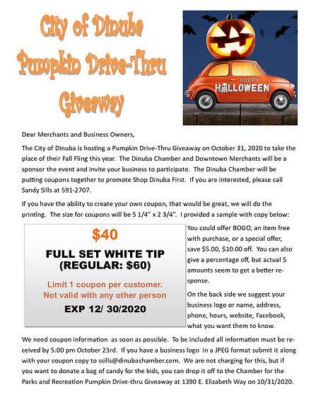 merchant letter for pumpkin drive thru.j
