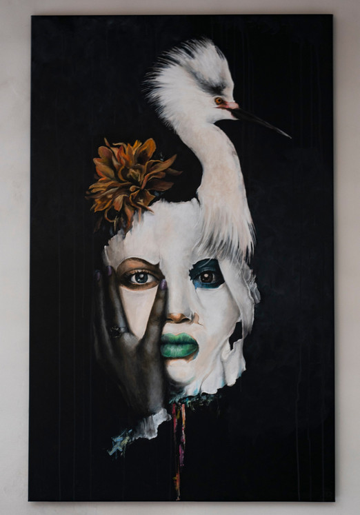 Art piece - Zilverreiger