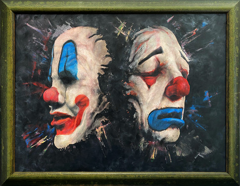 Art piece - 2 Faces 1 joke