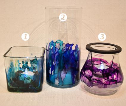 Alcohol Ink Glassware