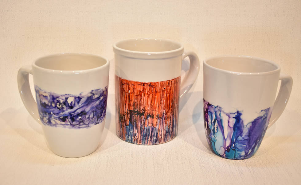 Alcohol Ink Mugs