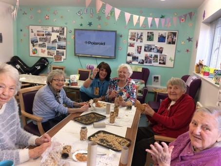 Bird feeder making at our Southend Silver Birch Centre ready for Spring!
