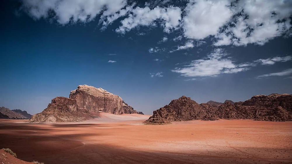 Partialy cloudy in Wadi Rum