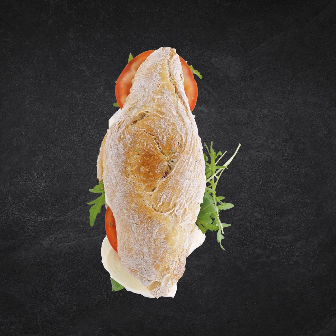 Ciabatta mit Tomaten-Mozzarella