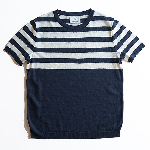 Border Kanoko Knit T-Shirts