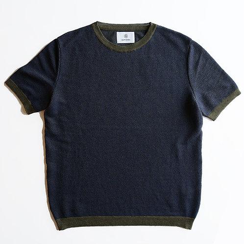 Tuck Kanoko Knit T-Shirts