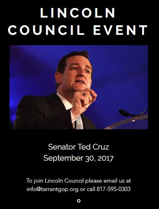 Lincoln Council Event with Senator Ted Cruz