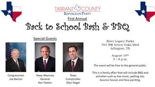 1st Annual Tarrant County GOP Back to School Bash & BBQ