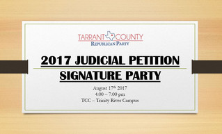 2017 Judicial Petition Signature Party