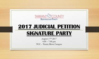 2017 Judicial Petition Signature Party