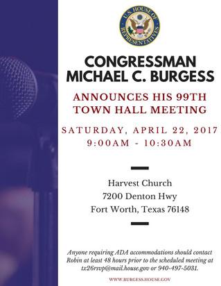Congressman Michael Burgess 99th Town Hall