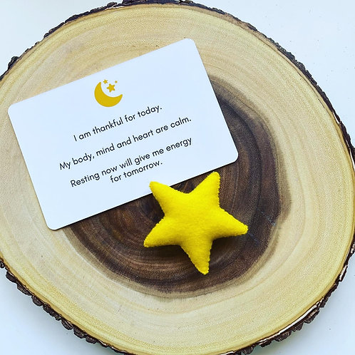 Bedtime Card and Star