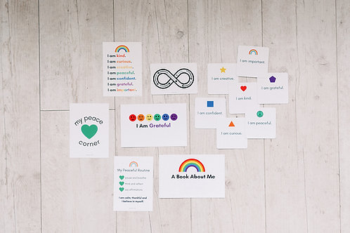 DIGITAL Peaceful Routine and Affirmation Card Kit for Children