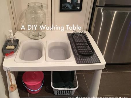 DIY washing table