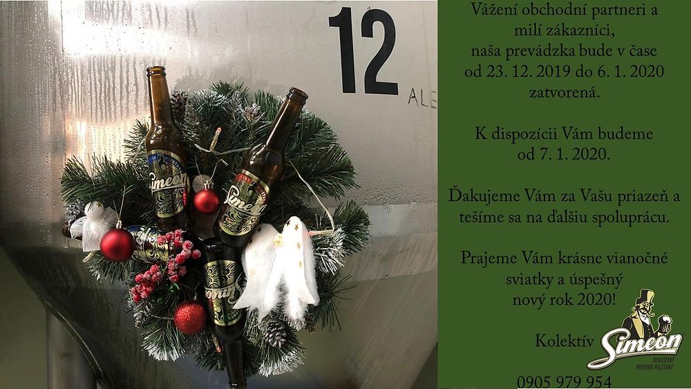 Pivovar Simeon Piešťany, PF 2020