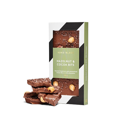 Koko Black Hazelnut & Cocoa Bits Milk Chocolate