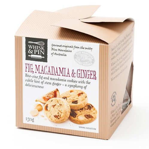 Whisk & Pin Fig Macadamia & Ginger Bite Size Biscuits