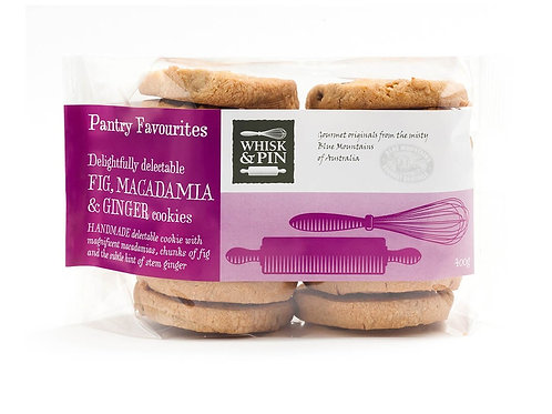 Whisk & Pin Fig Macadamia & Ginger Biscuits