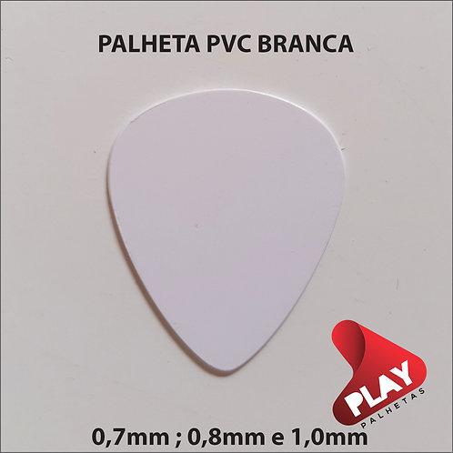 PALHETA PVC BRANCA  0,7mm , 0,8 mm e 1,0 mm