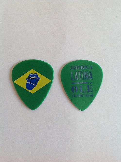 Rolling Stones - olé Tour 2016 - Bandeira do Brasil