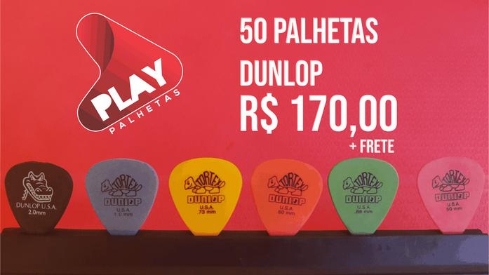 50 PALHETAS DUNLOP PERSONALIZADAS R$ 170