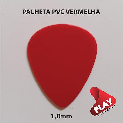 PALHETA PVC STANDART VERMELHA 1,0 mm