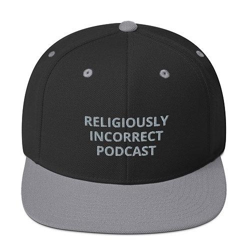 Religiously Incorrect Podcast Snapback Black/Silver