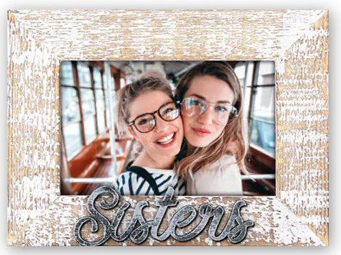 Cornice Sister Legno Scritta Alluminio