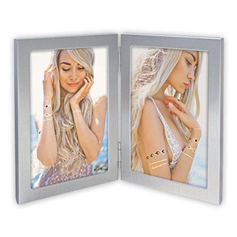Cornice Doppia silver  modellato  Arredo Moderno