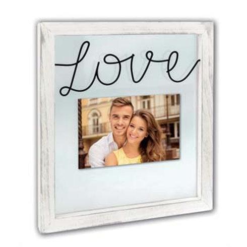 Cornice in legno/vetro con scritta Love