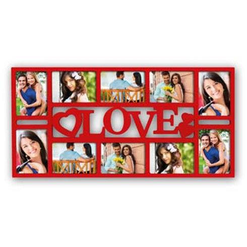 Cornice 10 foto plastica con scritta love