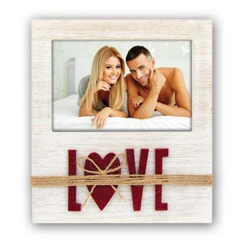 Cornice in legno con scritta Love