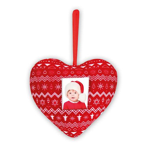 Pallina di Natale in stoffa Cuore/Stella/Alberello