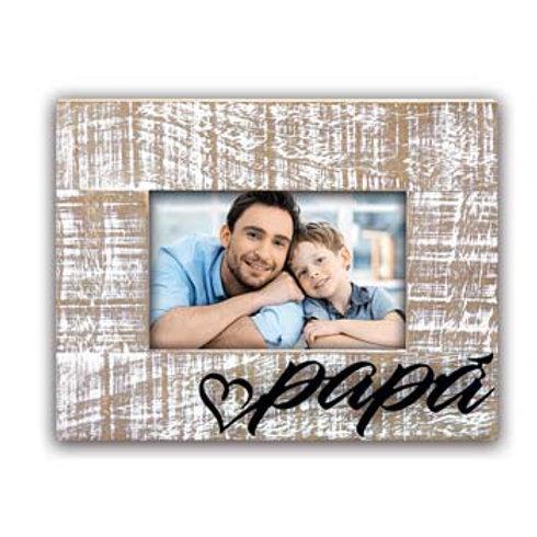 Cornice Papà Legno Scritta Alluminio