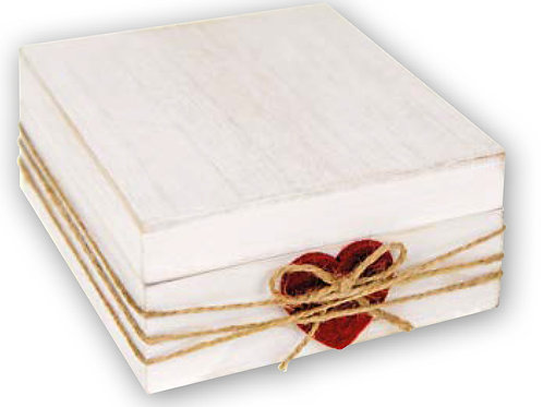 Contenitore Love in legno 10x10