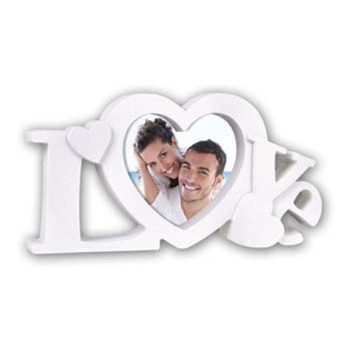 Cornice in plastica forma scritta Love