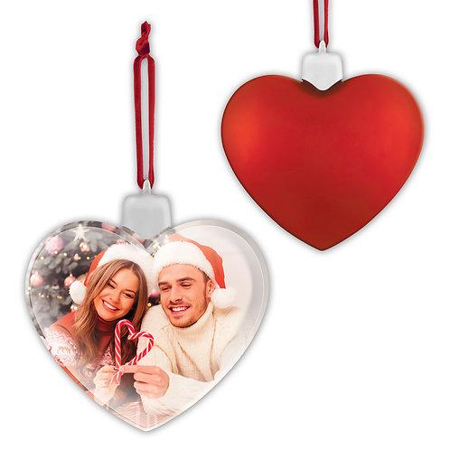Pallina di Natale Cuore Rosso