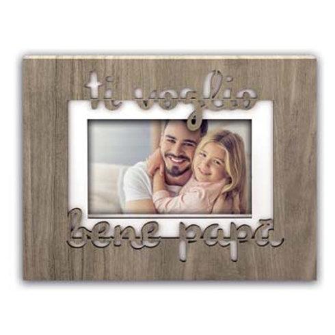 Cornice Ti voglio Bene Papà con scritta incisa