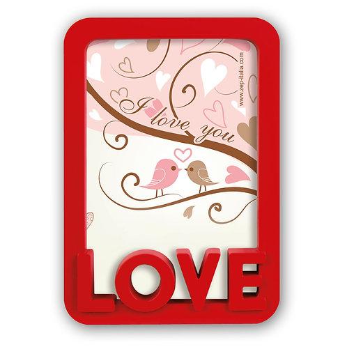 Cornice in plastica con scritta Love3D