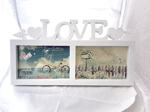 Cornice Doppia in plastica con scritta Love3D
