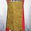 Thumbnail: Tan & Red Musical Medley Reversible Bib Apron w/Adjustable Neck Strap