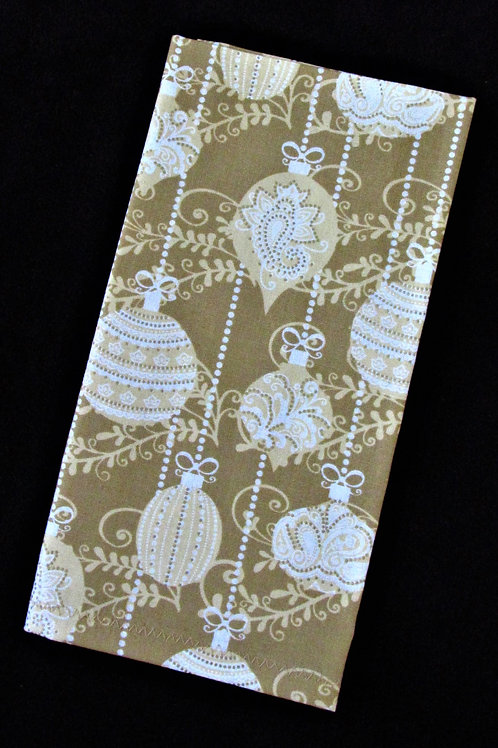 Gold and White Holiday Cloth Napkin
