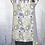 Thumbnail: Navy Blue, Grey & Yellow Paisley Reversible Bib Apron w/Adjustable Neck Strap