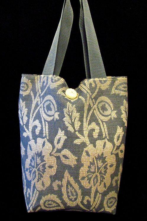 Steel Blue & Cream Variegated Tapestry Bag