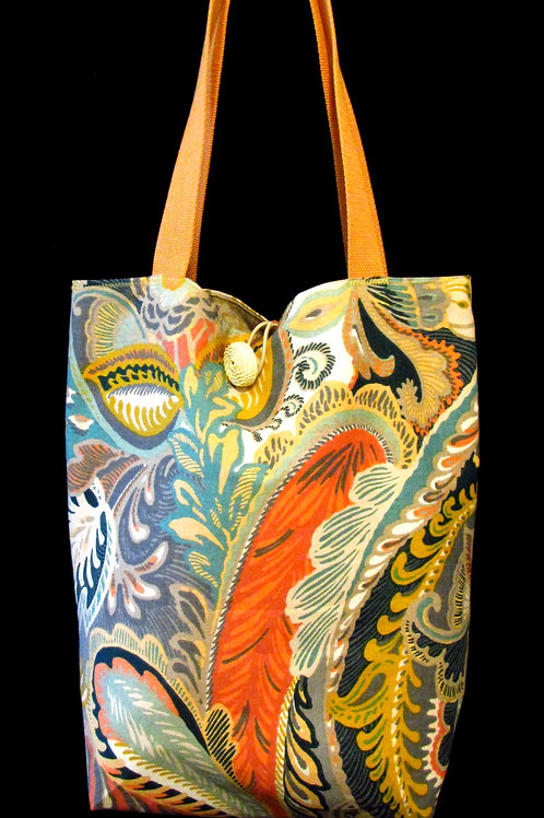 Multi Colored Large Paisley Cloth Bag