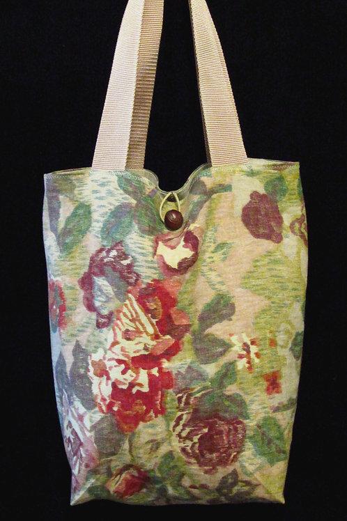 Multi Flowered Linen Bag